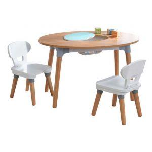 KidKraft Table pour enfants avec 2 chaises Mid-Century Modern