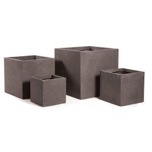 Mcollection Pot carré GENEVE 23x23xH.23 Taupe
