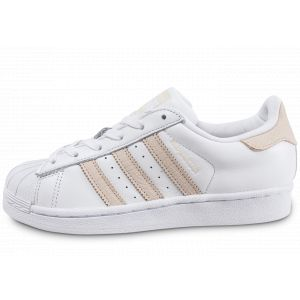 Adidas Superstar W Blanche Et Rose Baskets/Tennis Femme