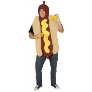 Ptit Clown Déguisement hot dog sauce moutarde adulte