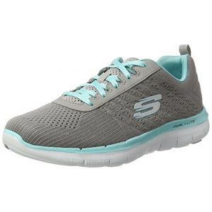 Skechers Flex Appeal 2.0, Baskets Basses Femme, Gris (Gylb), 40 EU