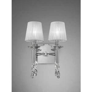 Mantra Applique 2 lampes avec abats jours Tiffany Chrome Métal 3863