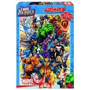 Educa Puzzle Les héros de Marvel 500 pièces