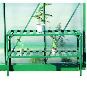 Foresta SR 1305 - Étagère en aluminium 2 niveaux pour serre 126 x 50 x 75 cm