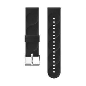 Suunto Pièces détachées Urban 1 Silicone 20mm S Strap - Black / Steel - Taille One Size