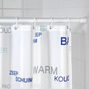 Wenko 19206100 - Barre de douche télescopique épais en aluminium (110 à 245 cm)