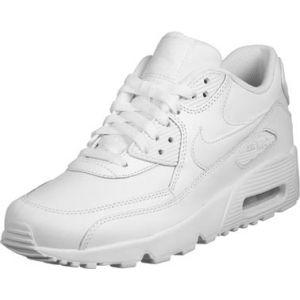 Nike Air Max 90 LTR (GS), Baskets Garçon, Blanc (White/White 100), 36 EU