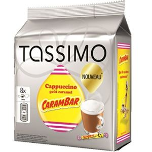 Tassimo 8 dosettes T-Discs Cappuccino goût caramel Carambar