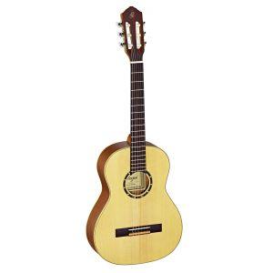 Ortega R121-3/4 Guitare de concert avec housse Taille 3/4 Corps Acajou Table épicéa