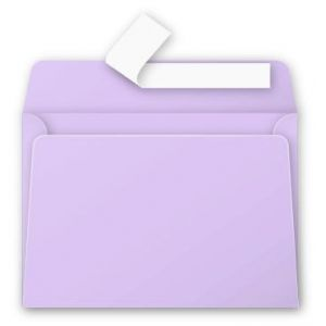 Pollen 5186C - Enveloppe 114x162, 120 g/m², coloris glycine, en paquet cellophané de 20