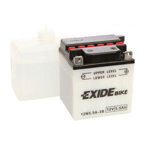 Exide Batterie moto 12N5,5A-3B 12v 6ah 40A