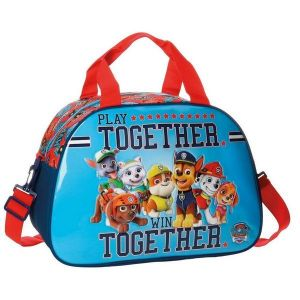 Sac de sport Pat Patrouille Together 40 cm Bleu