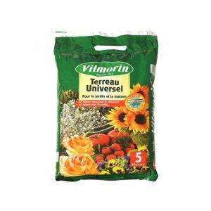 Vilmorin Terreau universel - 5 L - Terreau universel 5L - Pour toutes les plantes de la maison, des balcons, des terrasses et du jardin.