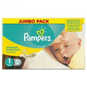 Image de Pampers New Baby taille 1 Newborn 2-5 kg - Jumbo pack x 72 couches