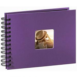 Hama Album photo à spirales Fine Art, 24 x 17 cm, 50 pages noires, violet