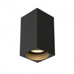 Lucide Plafonnier tube carré Delto LED H10 cm - Gris