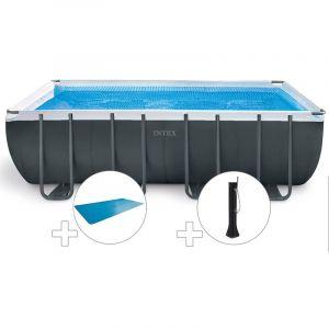 Intex Kit piscine tubulaire Ultra XTR Frame rectangulaire 5,49 x 2,74 x 1,32 m + Bâche à bulles + Douche solaire