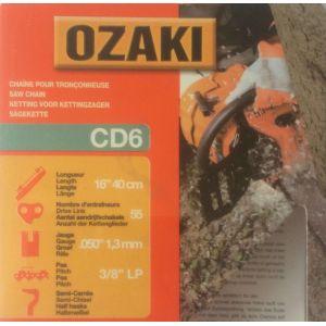 Ozaki Greenstar 13205 Chaine de tronçonneuse 3/8LP 0.050 55E CD6