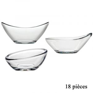 Lot de 18 Coupelles en Verre Transparent Prix