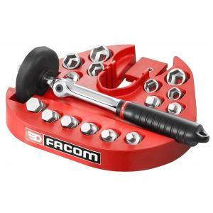 Facom D.48-KITPB - Coffret kit de vidange : clé de vidange et embouts de vidange sur plateau support
