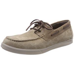 Geox U Walee D, Chaussures Bateau Homme, Beige (Sand), 45 EU