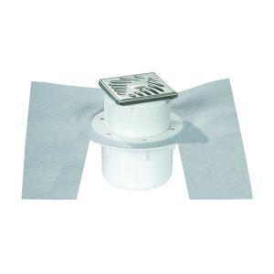 Nicoll Siphon sortie verticale 50/63 grille 10x10 inox 316