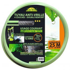 Cap Vert Tuyau d'arrosage tricoté 4 couches renforcé diam.15  longueur 25 m