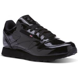 Reebok Classic Leather Patent, Sneakers Basses Fille, Noir (Black), 35 EU