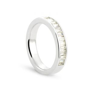 Rêve de diamants 3612030069246 - Alliance en or blanc sertie de diamants