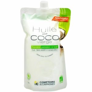 Comptoirs et Compagnies Huile de Coco vierge bio - Doypack 500mL