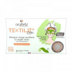 Argiletz Textilit - Masque visage purifiant à l'argile verte
