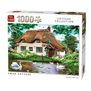 King Puzzle 1000 Pièces Swan Cottage