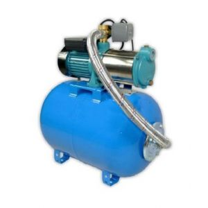 Omni Pompe d'arrosage POMPE DE JARDIN pour puits 1500 W 400V 95l/min avec ballon surpresseur 24L