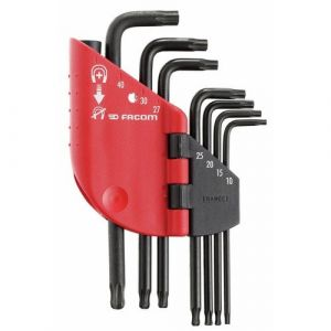 Facom 7 clés allen Torx T10-T40