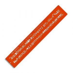 Minerva Trace lettres hauteur 7 mm norme ISO, longueur 32,5 cm - Lot de 3
