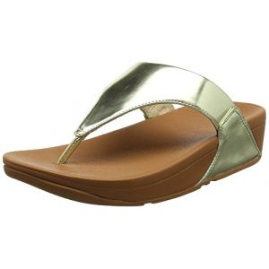 FitFlop Lulu Toe-Thong Mirror, Sandales Bout Ouvert Femme, Or (Gold Mirror 301), 36 EU