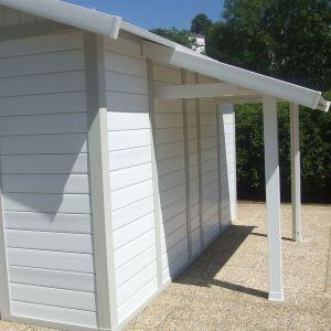 Grosfillex Auvent pour abri de jardin en PVC