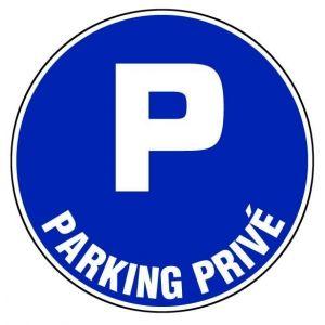 Taliaplast 622524 - Panneau parking privé diamètre 300 mm ps choc
