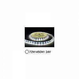 Vision-El Bandeau LED 72W (450W) 24V IP65 (Epoxy) Blanc jour 6000°K