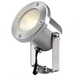 Perel Garden Lights Projecteurs LED Catalpa acier inoxydable 4121601