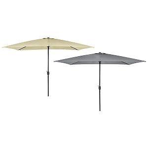 Bentley Charles - Parasol de jardin rectangulaire - 3 x 2 m - gris