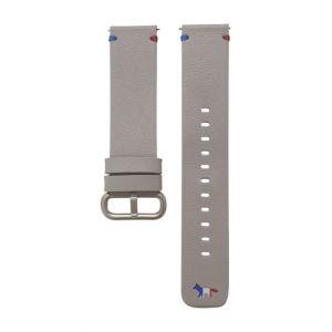 Samsung Bracelet en cuir 20 mm Beige pour Watch Active