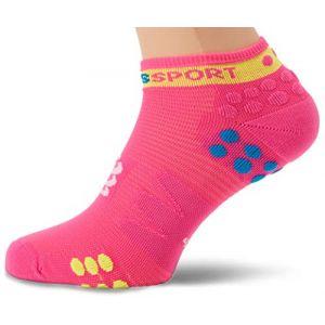 Compressport Pro Racing Socks V3.0 Run Low fluo pink