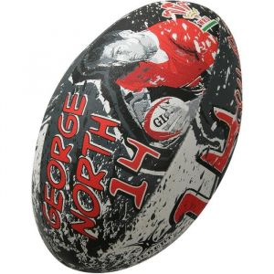 Gilbert Ballon de rugby SUPPORTER - Pays de Galles George North - Taille 5