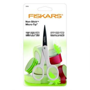 Fiskars 9994 - Ciseaux anti-adhésifs Micro Tip, 12 cm, pour droitiers et gauchers