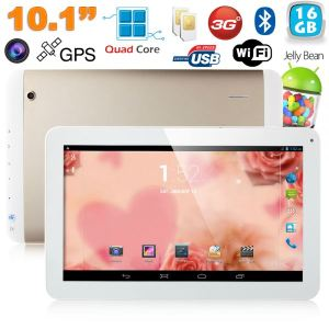 """Yonis Y-tt51g16 - Tablette tactile 10"""" sous Android 4.4 KitKat Double SIM Quad Core Wi-Fi GP (8 Go interne + Micro SD 8 Go)"""