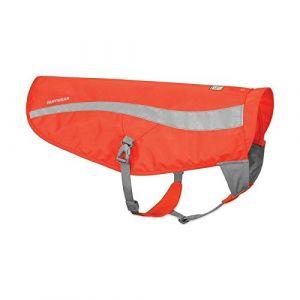 Ruffwear Gilet de sécurité pour chien, Haute visibilité, Réfléchissant, Chiens de chasse et de travail, Chiens de grande et très grande taille, Taille: L/XL, Orange (Blaze Orange), Track Jacket, 55202-850LL1