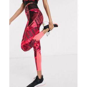 Puma AOP 7/8 Tight Legging Femme, Bright Rose-Be Bold Q1 Prt, FR : L (Taille Fabricant : L)