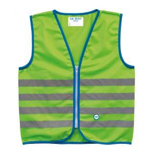 Wowow Fun Gilet de sécurité Enfant Vert Fluo Taille S (5-7 ans)