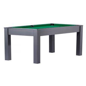 No Name Billard convertible en table à manger 6 personnes Verviers Noir, Vert (tapis)